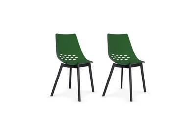 2 verte w chaises jam graphite piétement Lot transparente de EIDH92
