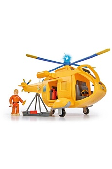 Véhicules miniatures Simba Toys Simba toys 109251002 pompier sam helicopter wallaby ii avec une figure