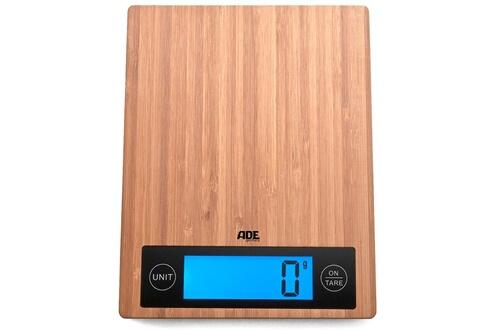 Balance de cuisine électronique 5kg - 1g bambou - ade - 0409028