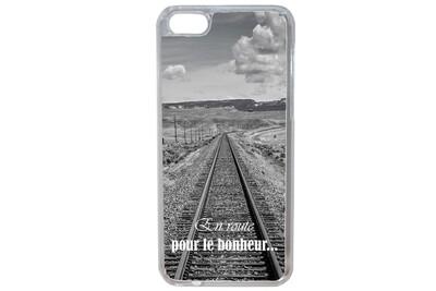 Coque pour iphone 7 plus - 7s plus humour bonheur paysage train chemin de fer fille swag