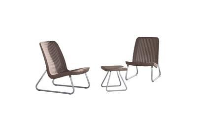 Ensemble table et chaise de jardin Keter Mobilier de jardin 3 pcs ...