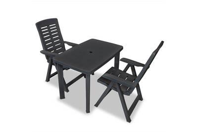 anthracite edition 3 mobilier jardin pcs luanda Mobilier de de plastique bistro wOkZiPXuT