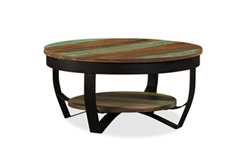 Table basse Table basse bois massif de récupération 65 x 32 cm Vidaxl 26c9da64f9a6