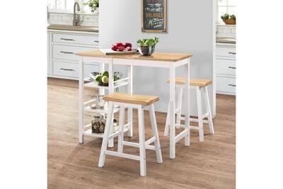 Ensembles de meubles serie alger ensemble de bar 3 pcs mdf blanc