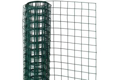 Clôture Nature Grillage métallique de clôture de jardin carré vert ...