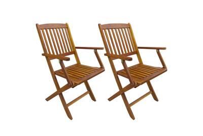 Chaise et fauteuil de jardin Vidaxl Chaises pliables d\'extérieur 2 ...