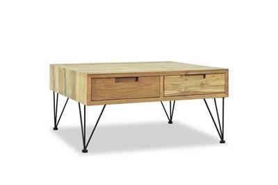 Table Basse Teck Massif.Table Basse 80 X 80 X 40 Cm Teck Massif