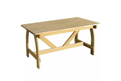 Ensemble table et chaise de jardin Vidaxl Table de jardin bois de ...