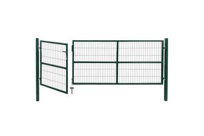 Portillon Vidaxl Portail de clôture de jardin avec poteaux 350x120 ...