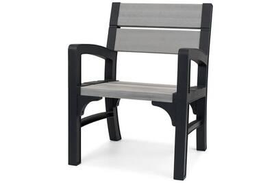 Chaise et fauteuil de jardin Keter Chaise de jardin montero gris ...