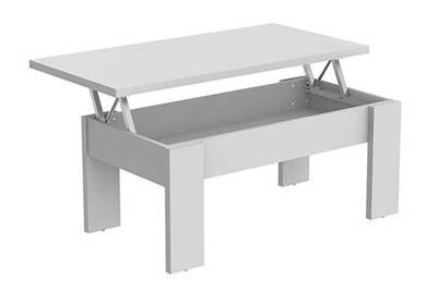 Cm Aggloméré Dim100 Blanc Table En Coloris Mélaminé Basse 40 X Pegane 50 Alpha rdBeWCxoQ