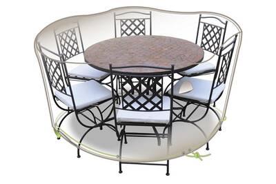 Housse pour mobilier de jardin Jardiline Housse de table et chaises ...