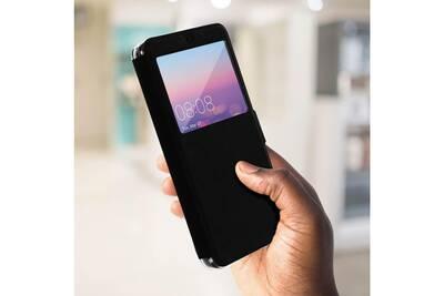 detailed pictures popular brand outlet online Colorfone etui housse huawei p20 flip cover incassable avec fenêtre noir