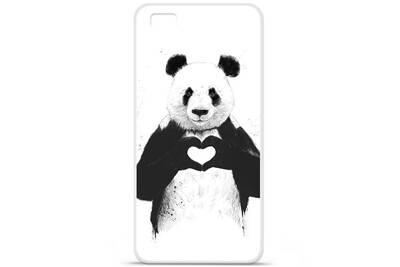 coque en silicone pour portable huawei p8 lite panda