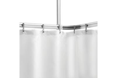 ensemble de tringle a rideau de douche easy roll aluminium
