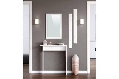 etag re rangement aucune kyra meuble d entr e contemporain m lamin blanc mat l 80 cm darty. Black Bedroom Furniture Sets. Home Design Ideas