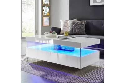 Table Basse Aucune Sezanne Table Basse Avec Led Style Contemporain