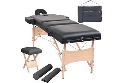 Et Tabouret Cm Massage Noir Pliable 10 D'épaisseur Table De pUzGMVqS