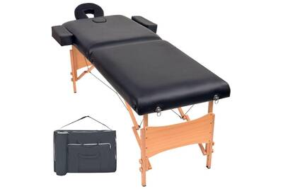 De Noir Table Pliable Cm Massage À Zones 10 D'épaisseur 2 PTZlOXiwku