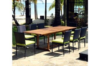 Ensemble table et chaise de jardin Wood-en-stock | Darty