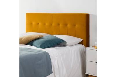 Dosseret et t te de lit marckonfort t te de lit napoles 140x100 jaune moutarde darty for Dosseret de lit