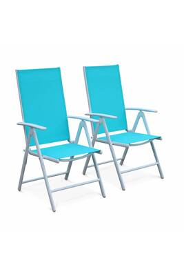 Chaise et fauteuil de jardin Alice\'s Garden Lot de 2 fauteuils multi ...