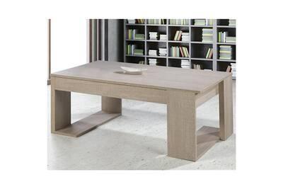 acheter en ligne e434e 008d5 Table basse relevable chêne clair - guizmo