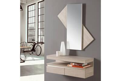 petit meuble tousmesmeubles meuble d 39 entr e 2 tiroirs. Black Bedroom Furniture Sets. Home Design Ideas