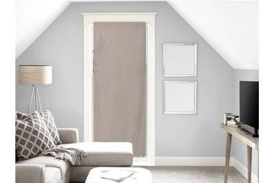 Voile Pour Porte Fenêtre En Coton 70x200 Cm Panama Taupe
