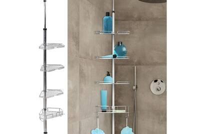 colonne de douche idmarket etag re d 39 angle de douche. Black Bedroom Furniture Sets. Home Design Ideas