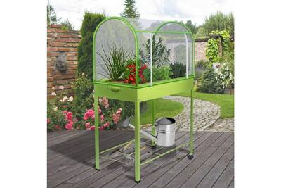 Serre de jardin Idmarket Serre de balcon verte avec housse de ...