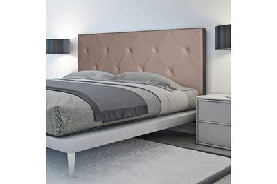 dosseret et t te de lit probache t te de lit capitonn e pvc taupe 160x58 cm darty. Black Bedroom Furniture Sets. Home Design Ideas