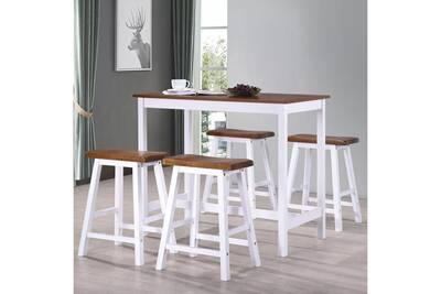 design de qualité 33175 a611c Ensembles de meubles gamme bruxelles table et tabouret de bar 5 pcs bois  massif