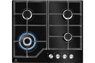 la meilleure attitude 1552f 25f55 Table de cuisson gaz 59cm 4 feux 8900w noire - electrolux - kgg6436k