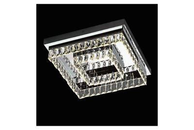 Plafonnier cristal moderne carré led - million 42 cm - en soldes !