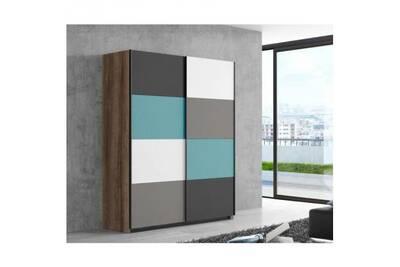 Raven armoire de chambre contemporain multicolore - l 170 cm