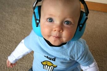 Ecoute bébé Banz Casque anti-bruit bébé bleu banz