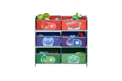 Pyjamasques meuble de rangement pour chambre d\'enfant avec 6 bacs