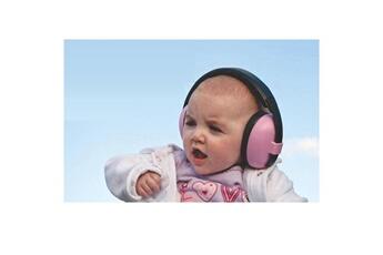 Ecoute bébé Banz Casque anti-bruit bébé rose banz
