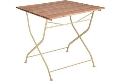 Table de jardin Esschert Design Table pliable en bois et métal | Darty