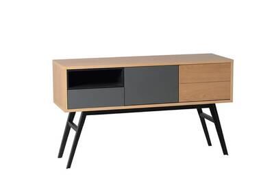 Petit Meuble Marckeric Table Console En Bois Avec 2 Portes Avec