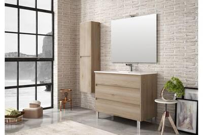 Meuble de salle de bain tenerife 100cm bois clair
