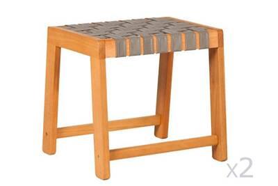 Ensemble table et chaise de jardin Delamaison Tabouret en bois ...