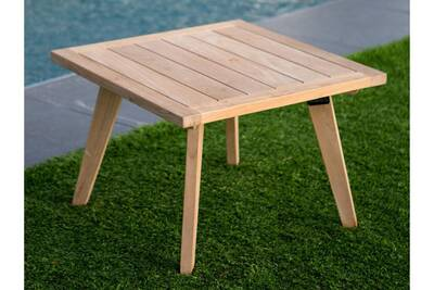 Table de jardin Delamaison Table basse de jardin en teck brut ...