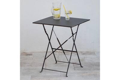 Table carrée pliante en acier 60x60cm pop