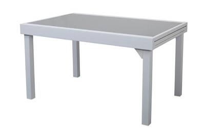 Table de jardin Delamaison Table de jardin extensible aluminium ...