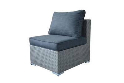 Chauffeuse en résine tressée gris pour canapé de jardin modulable sardana