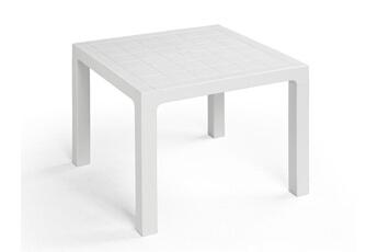 Table De Jardin 90x90cm En Technopolymre Blanc Ares Delamaison
