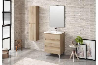 Ensemble de salle de bain tenerife 60cm bois clair