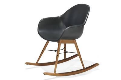 Wondrous Rocking Chair Coque Resine Et Pieds Noirs En Eucalyptus Cjindustries Chair Design For Home Cjindustriesco
